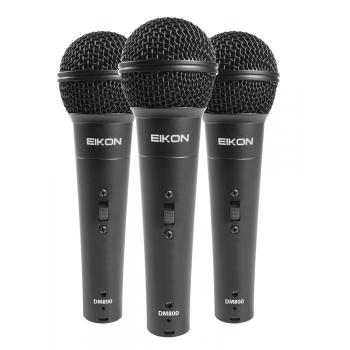 Eikon DM800 KIT Pack 3 Microfonos Vocal By Proel