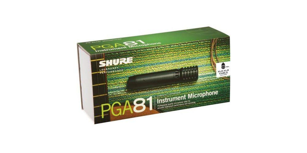 SHURE PGA81XLR Micrófono condensador cardioide para instrumentos