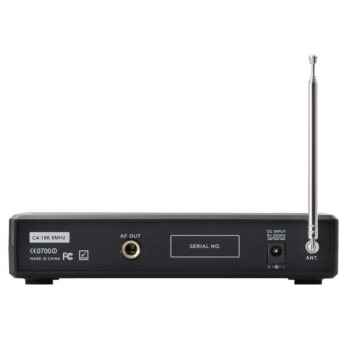 GEMINI VHF-01 HL Canal 2 Micrófono inalámbrico Diadema / Solapa