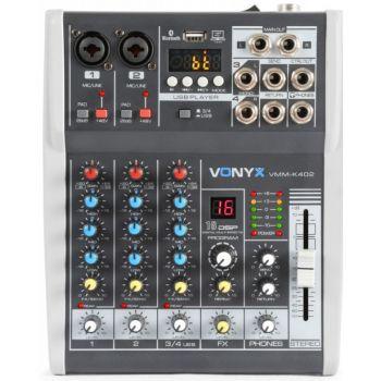 VONYX VMM-K402 Mezclador de directo 4 canales con DSP 172585