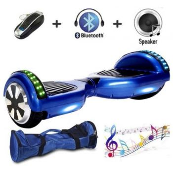 SEC Smart Balance Wheel con Leds SEC65BMBN Azul Bluetooth + Bolsa