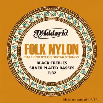 D´addario EJ32 Folk Nylon Cuerdas para Guitarra Clasica