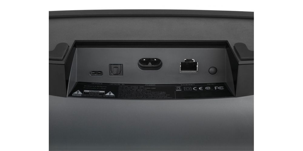 bw Formation Bar barra sonido inalambrica 3 canales panel trasero conexiones