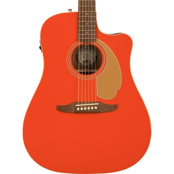 Fender LTD Redondo Player WN Fiesta Red Guitarra Electroacústica
