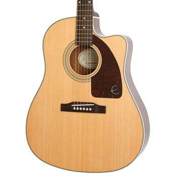 Epiphone AJ-210CE Natural Guitarra Electroacústico con Estuche