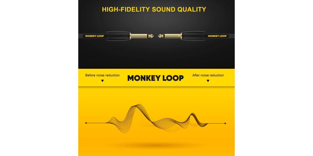monkey loop pro studio series s s 3m cable profesional reducción ruido