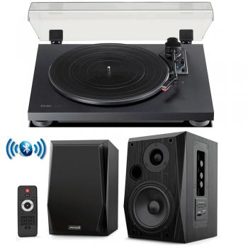 Equipo HiFi TEAC TN-180 BT Giradiscos Bluetooth + Audibax Beta 2BT Altavoces Activos Bluetooth