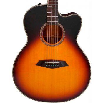 Larry Carlton A4-G Guitarra Acústica Cutaway Vintage Sunburst