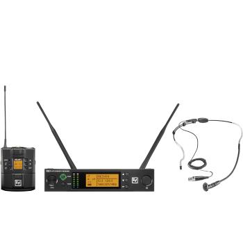 Electro-Voice RE3-BPHW-8M Micrófono Inalámbrico de Diadema Supercardioide  Banda 8M (823 MHz – 865 MHz)