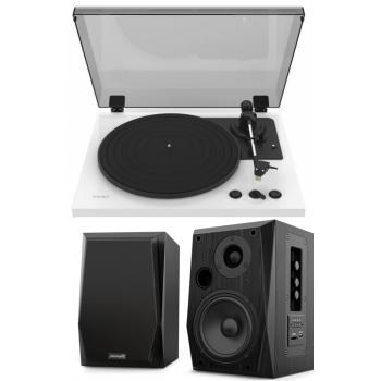 Equipo HiFi TEAC TN-175 White Giradiscos Con Previo Phono + Audibax Beta 2BT Altavoces Activos Bluetooth
