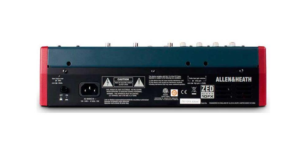 ALLEN-HEATH ZED-60 10FX Mezclador