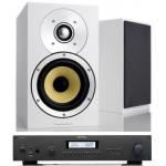 ROTEL RA12 Black Amplificador +B&W CM1S2 Blanco