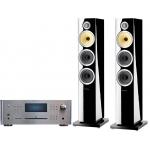 ROTEL RCX 1500 Silver +B&W CM8S2 Negro