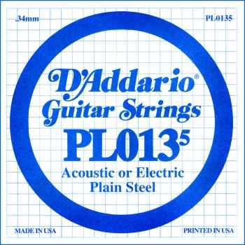 D´addario PL0135 Cuerda Suelta para Guitarra Eléctrica y Acústica