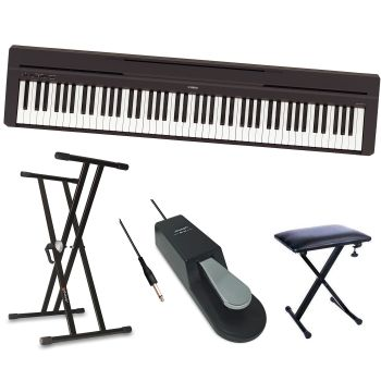 Yamaha P45 Piano Pack + Soporte + Banqueta + Pedal Sustain