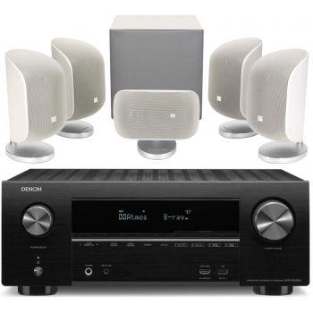 DENON AVR-X2500+BW MT50 White Conjunto Home cinema
