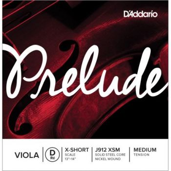 D´addario J912 Cuerda para viola prelude Re (D), escala extracorta, tensión media