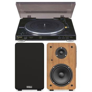 Pioneer PL990 Giradiscos con Previo + Altavoces Wiibo Neo 100 Bluetooth Conjunto Audio