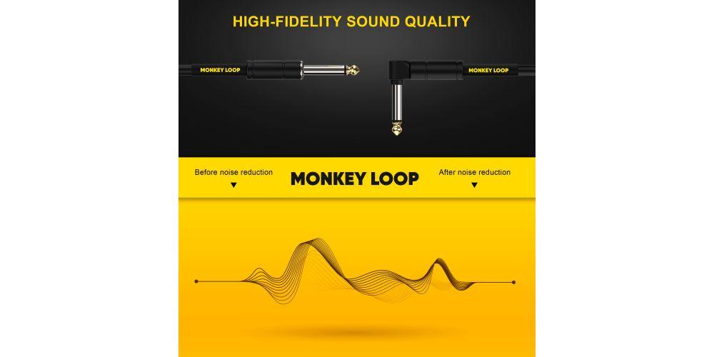 monkey loop standard cable jack mono jack acodado noise reduction