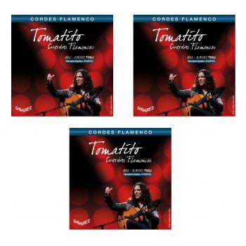 Savarez T50J Tomatito Cuerdas Flamenca Tensión Alta 3 Juegos