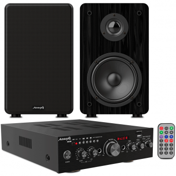 Equipo HiFi Bluetooth Karaoke Audibax Miami + Altavoces Audibax Signature S1E
