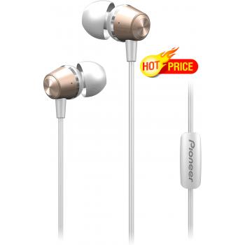 Pioneer SE-QL2T-G Auriculares HiFi  In-Ear Cuerpo de Aluminio. Micrófono Manos Libres