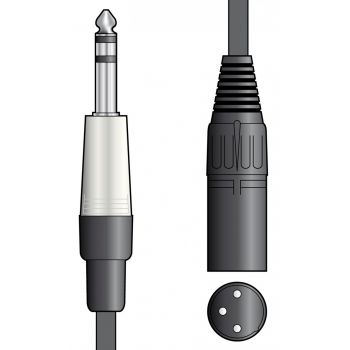 Chord Cable XLR Macho - Jack 6.3mm Stereo 1.5 metros
