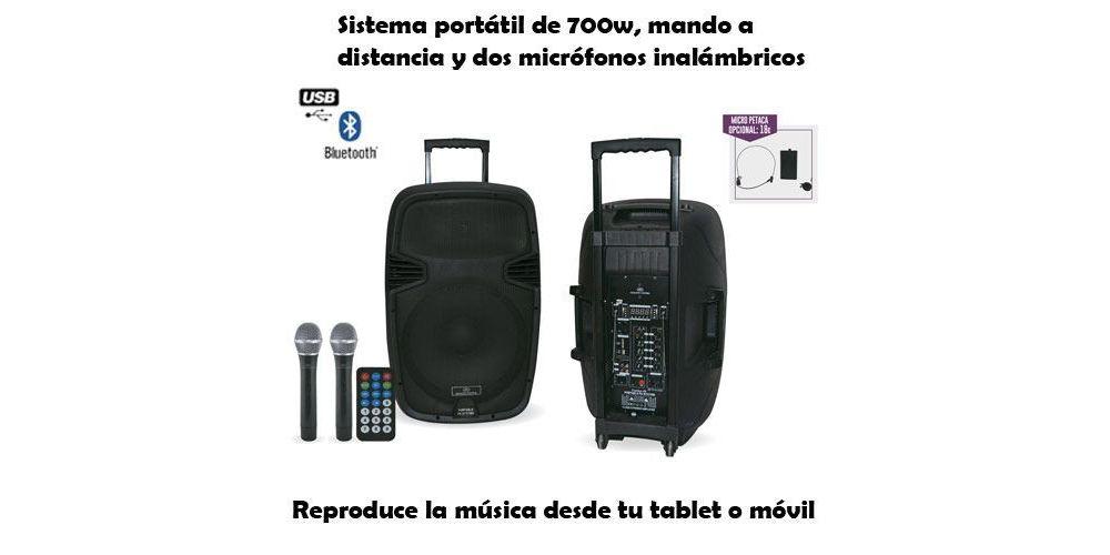 ACOUSTIC CONTROL COMBO 15 Altavoz con Bateria Bluetooth