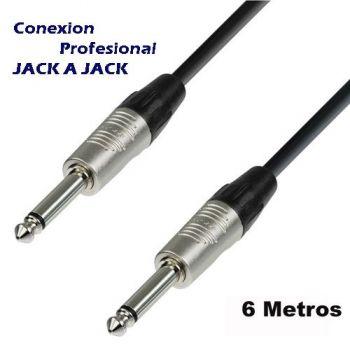 Cable Jack Macho 6,35 a Jack Macho 6,35 6 metros