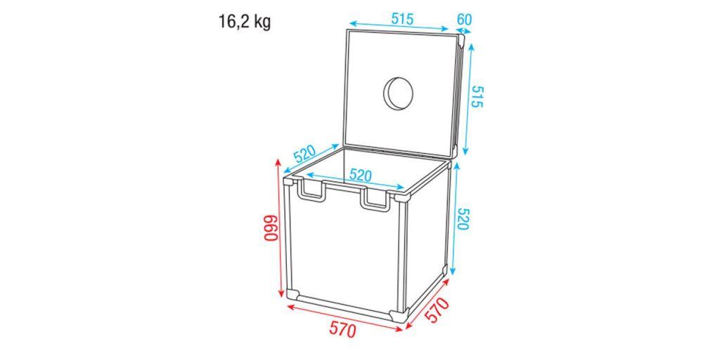 caja bola espejos 50 cm dimensiones