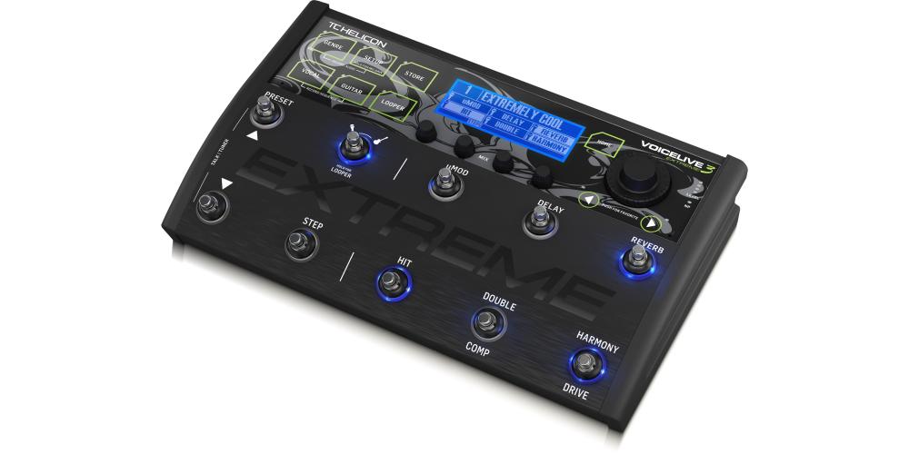 tc helicon voicelive 3 extreme efectos voz pedal