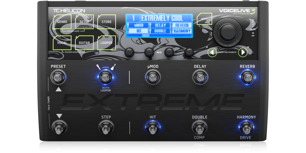 tc helicon voicelive 3 extreme pedal efectos voacal