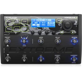 TC Helicon VoiceLive 3 Extreme Pedal de Efectos de Armonia Vocal - ( REACONDICIONADO )