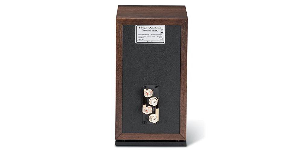 whaferdale Diamond 220 pareja altavoces walnut sonido ingles conexiones