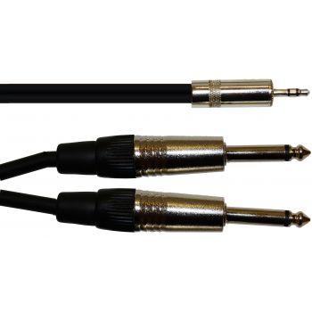 Oqan Cable Señal QABL J8-03-2JPM Cable Mini Jack Estéreo a 2 Jack Mono 3 mts