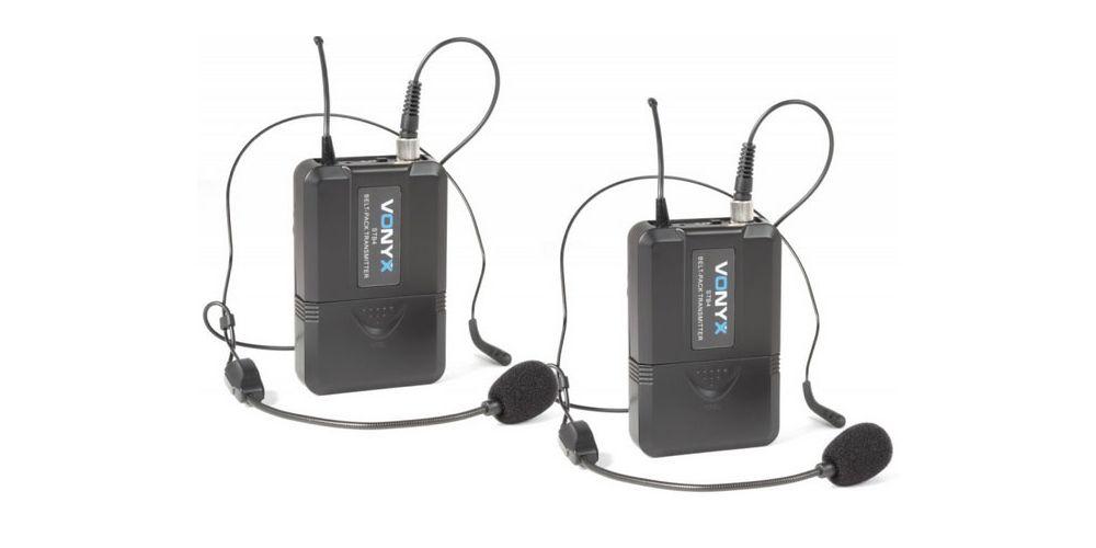 oferta microfono inalambrico doble diadema vonyx 179209 madrid