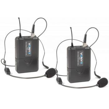 VONYX WM73H Microfono inalámbrico UHF con 2 micros de cabeza y display 179209