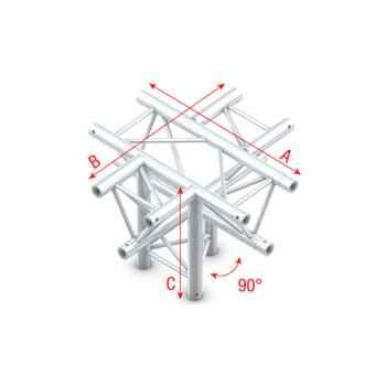 Showtec Cross - down 5-way apex down Cruce 5 Direcciones para Truss GT30024