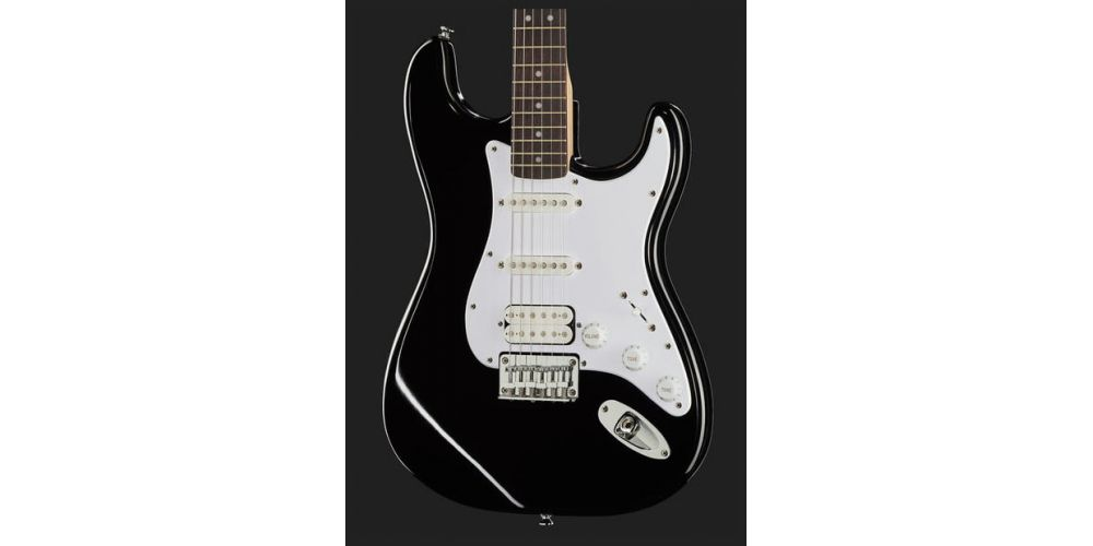squier bullet stratocaster hss hard tail black