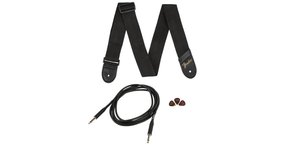 fender squier pack black guitar accesorios