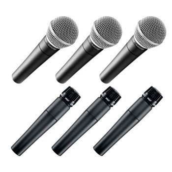 Pack 3 x Shure SM58 + Pack 3 x Shure SM57