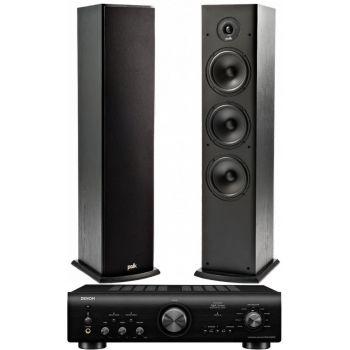 Denon PMA-800AE Black+Polk Audio T 50 Sistema 800/ T50SCD Conjunto Audio