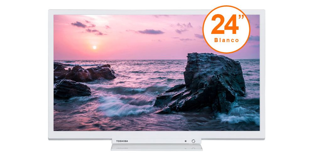 tv toshiba 24 blanco led