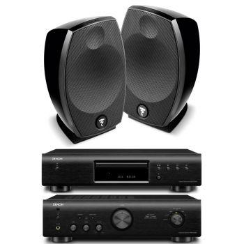 Denon PMA 520 Black+DCD520 Black+Focal Sib Evo Conjunto Audio