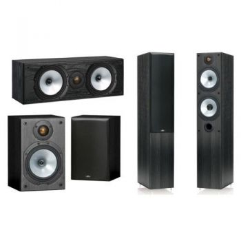 MONITOR AUDIO Conjunto Home Cinema, MR4 + MR1 + MRCENTER PACK4