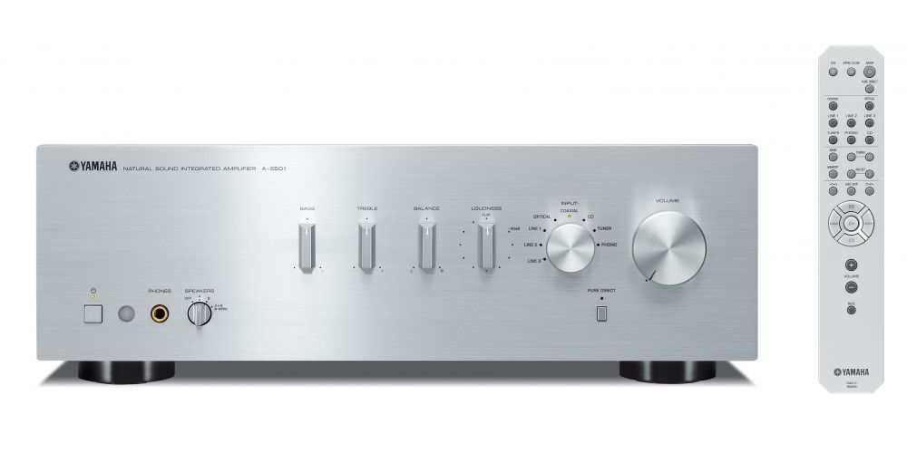 Yamaha AS 501 SILVER amplificador mando