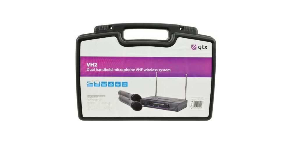 qtx vh2 microfono doble oferta