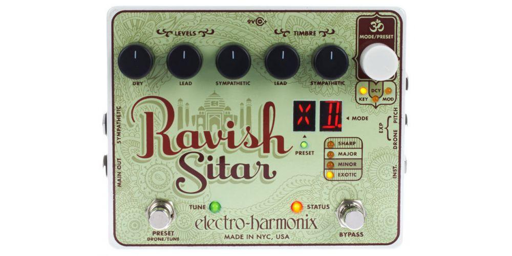 electro harmonix xo ravish sitar pedal 3
