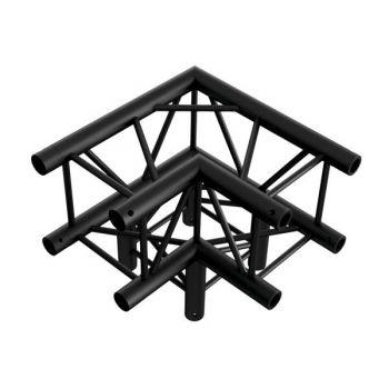 Showtec Corner 3-way 90 Esquina Cuadrada Negra 3 Direcciones FQ30012B