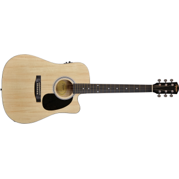 Fender Squier SA-105CE Dreadnought Cutaway Natural